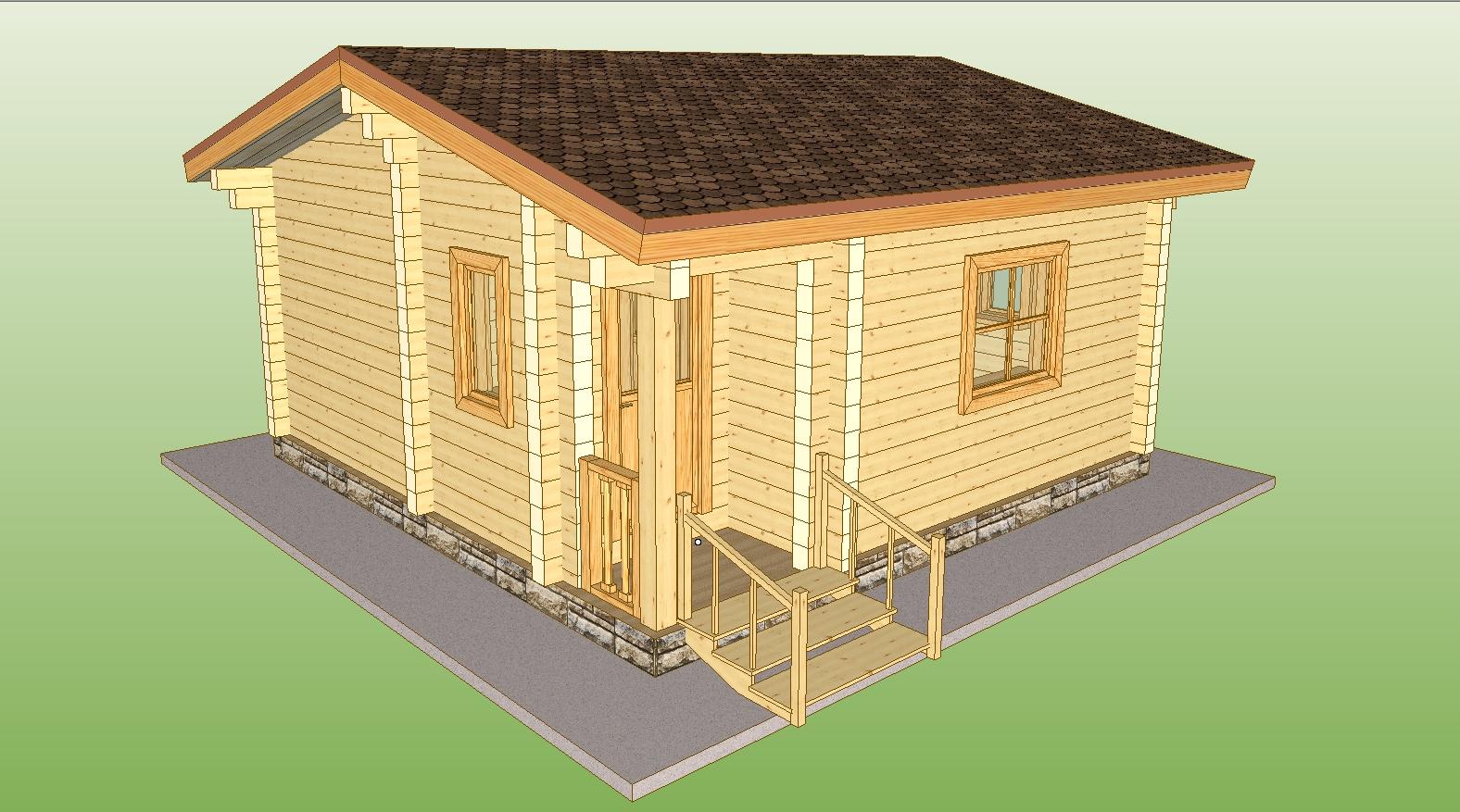Дом из профилированного бруса своими руками Строительный 8